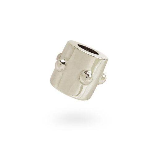 Japa Collection White Gold Bead
