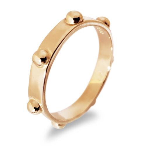 Japa Meditation 14K Rose Gold Ring by Iva Winton