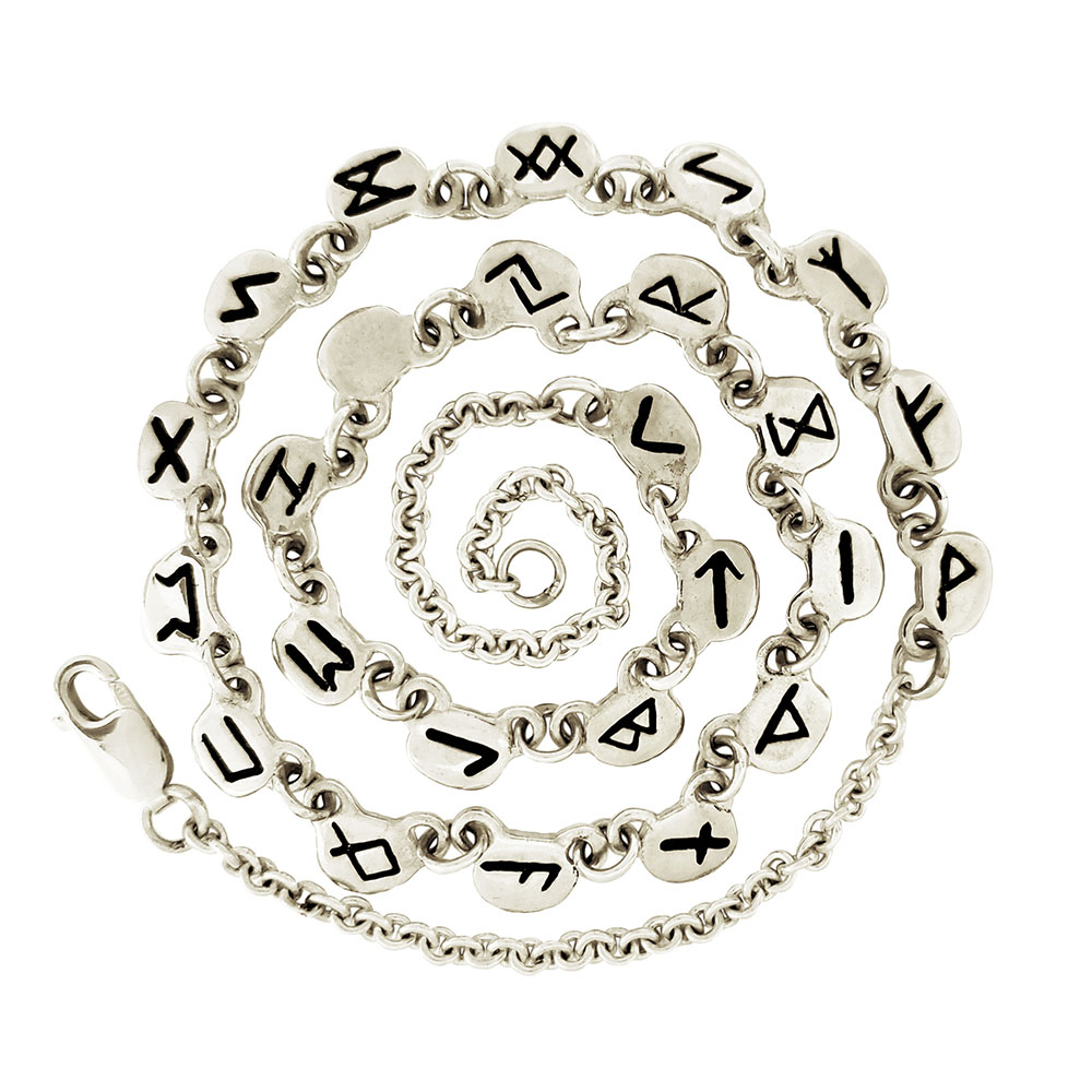Small Silver Rune Necklace