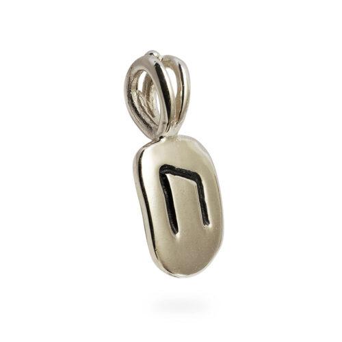 Uruz Rune Pendant in 14K White Gold