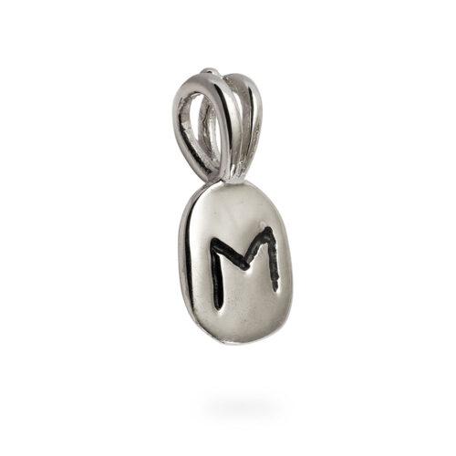 Ehwaz Rune Pendant in Solid Sterling Silver