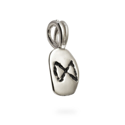 Dagaz Rune Pendant in Solid Sterling Silver