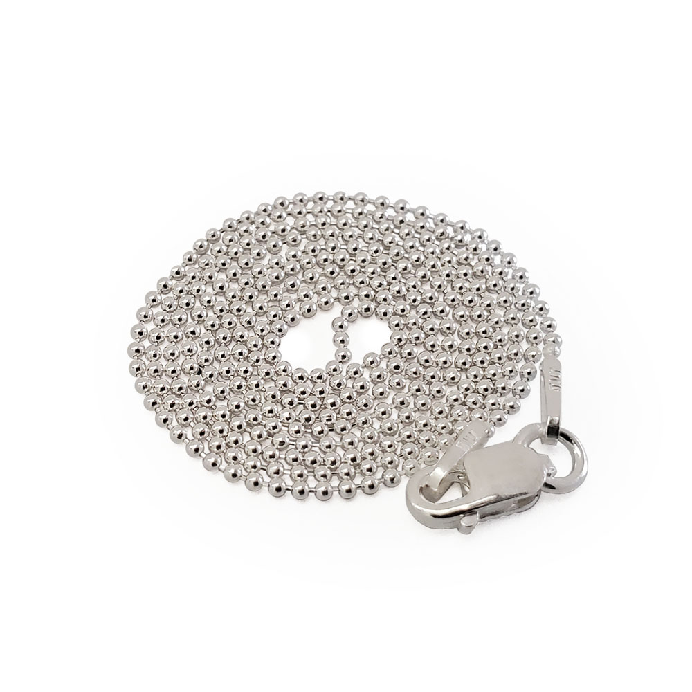 Small Silver Bead Necklace