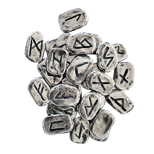 Solid Sterling Silver Rune Set