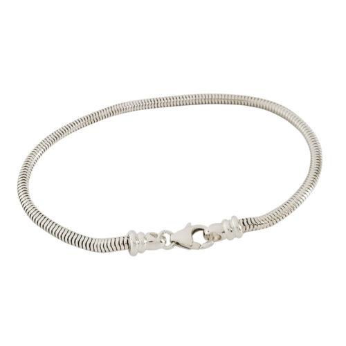 3mm Silver Snake Bracelet