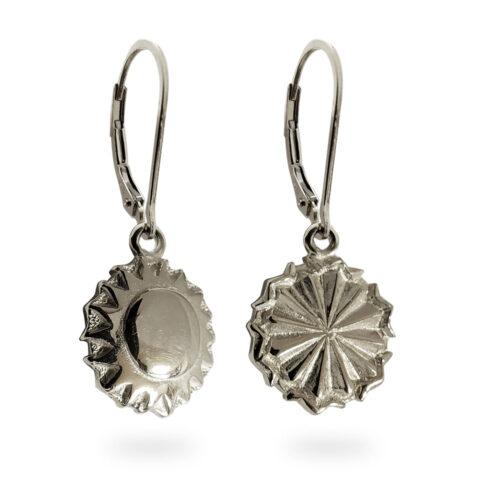 Reversible Tahoe Earrings in Solid Sterling Silver