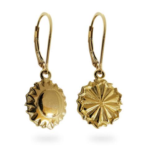 Reversible Tahoe Earrings in 14k Yellow Gold