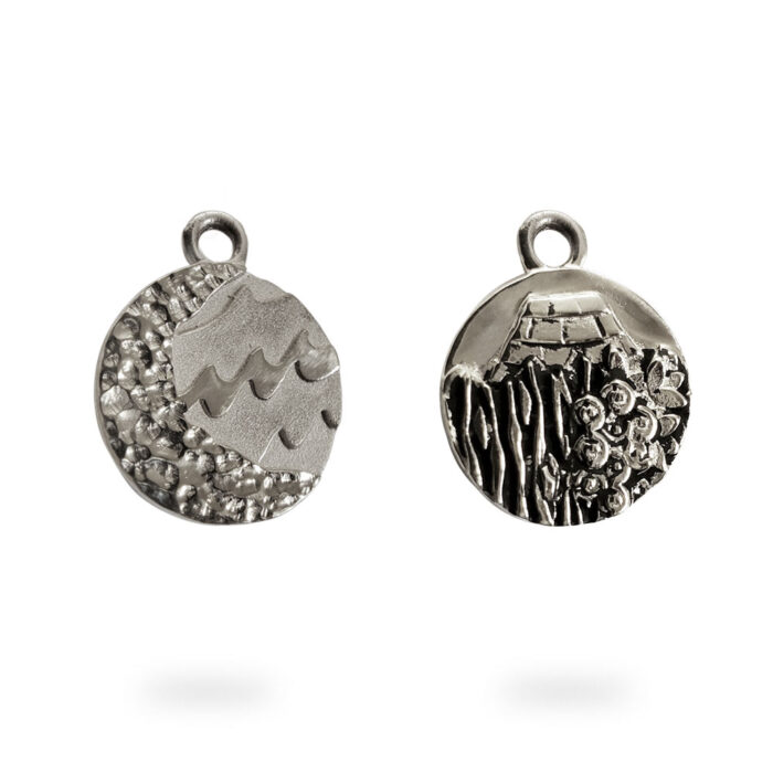Small Reversible Sterling Silver Carmel Charm