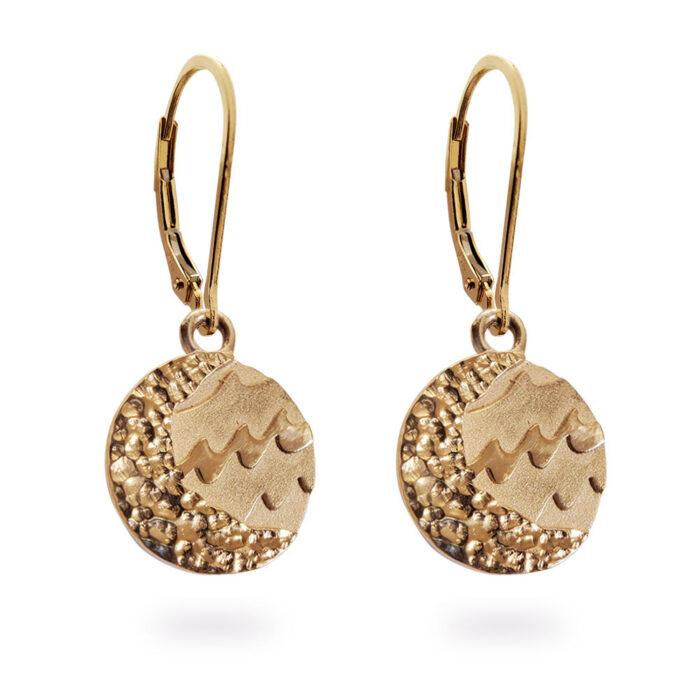 Reversible Carmel Earrings in Solid 14K Rose Gold