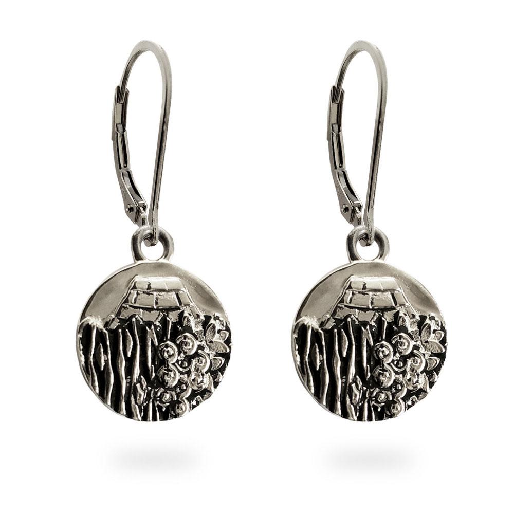 Reversible Carmel Earrings in Solid Sterling Silver